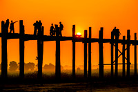 Sunset Walk, U-Bein Bridge, Mandalay, Myanmar