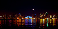 "Architecture, Beach, Beauty, ""Bright Colours"", ""Built Structure"", ""CN Tower"", Canada, City, ""City Life"", Cityscape, ""Coastal Feature"", ""Colour Image"", Dark, Downtown, Dusk, ""Famous Place"", Horizontal,"