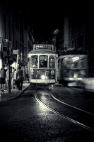 "2015, Architecture, B&W, ""Black and White Image"", ""Building Exterior"", ""Built Structure"", ""Capital Cities"", Compartment, Curve, Illuminated, ""Incidental People"", Lisbon, Night, Outdoors, Photography,"