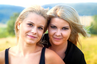blonde, girls, lights, looking, makeup, mascara, nature, outdoors, people, people, portrait, sisterhood, sisters, together, two, two, wind, women, young