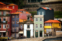Façades of Old Oporto Houses