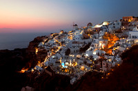 Oia Village After Sunset