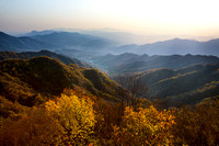 Autumnal View from The Great Wall of China