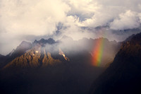 andean, high, peaks, rainbow, mountains