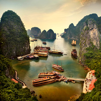 """Ha Long Bay"", ""Quảng Ninh province"", ""UNESCO World Heritage"", Vietnam, ""Vịnh Hạ Long"", boat, ""limestone karsts"", mountains, sea, water, Quang Ninh"""