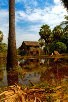 Thatched Farmhouse in Cambodia
