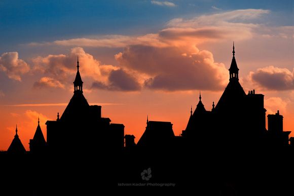 """The Royal Horseguards"", silhouette, 1880-1889, Architecture, ""British Culture"", ""Building Exterior"", ""Capital Cities"", England, ""Famous Place"",  ""National Landmark"", ""London - England"", ""National Lib"