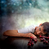 guy, man, portrait, cherry, cherries