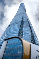 Look Up View of Shanghai Tower
