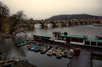 Boats on Vlata River, Prague