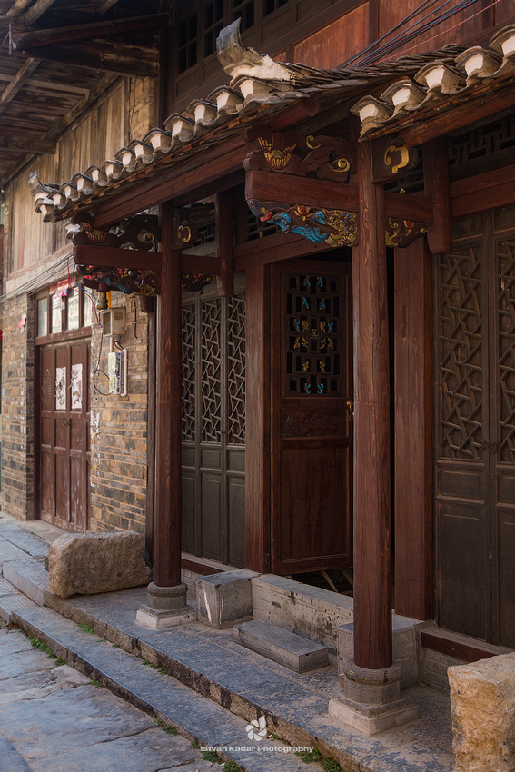 Entrance Door in Daxu Ancient Town, China